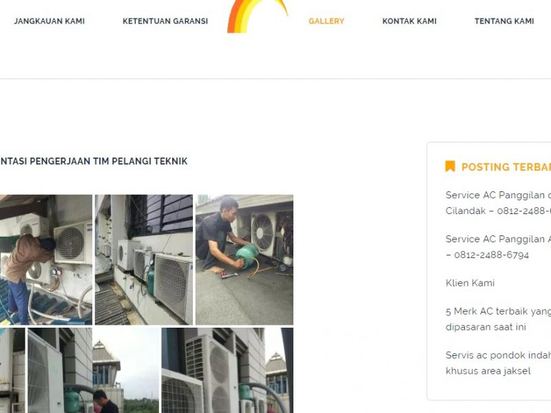 Pembuatan Website Pelangi Teknik