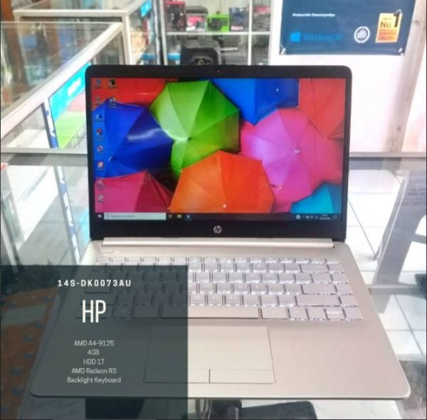 Laptop Second HP 14s-dkoo73au on Net Computer Depok
